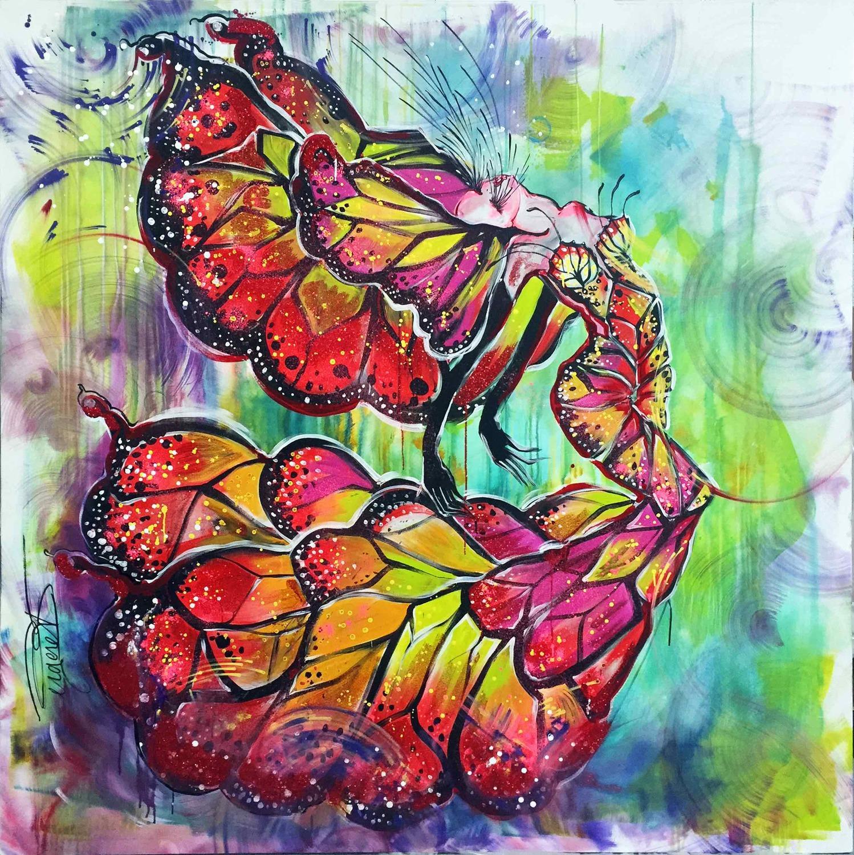 Large papillon metamorphose