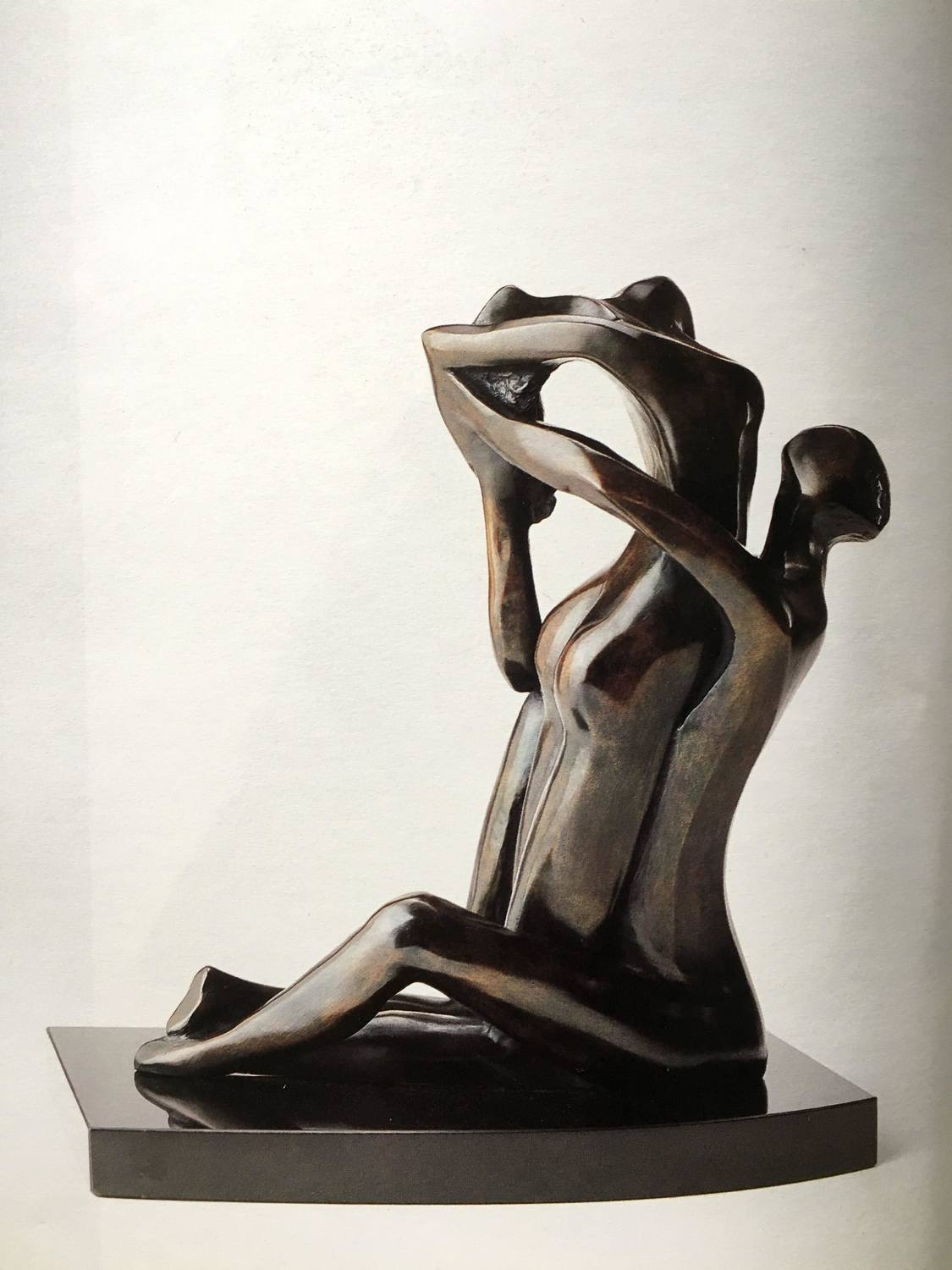 Large titre  abandon anne e de cre ation  1988 dimensions  34.5 x14 x28 cm matie re  bronze prix ttc  50 000