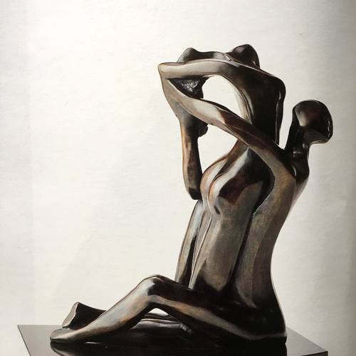 Thumb titre  abandon anne e de cre ation  1988 dimensions  34.5 x14 x28 cm matie re  bronze prix ttc  50 000