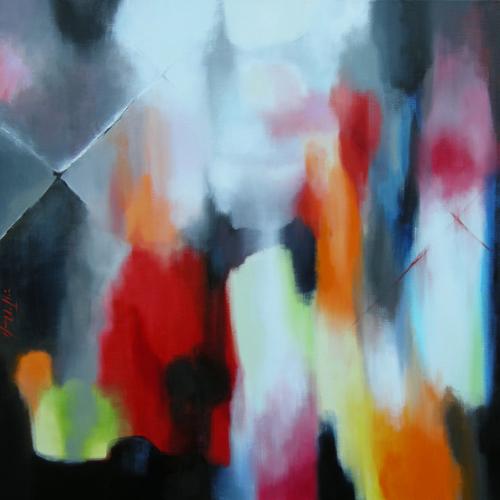 Thumb silentreflectionsturnmyworldostone  acryliconcanvas100x100cm2014