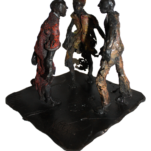 Thumb palabres  bronze patin   20x15x20  2kg  pi ce unique 1800 euros