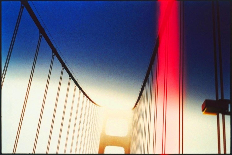 Large 13 red san francisco bridge  ete 1999 by herve saint helier