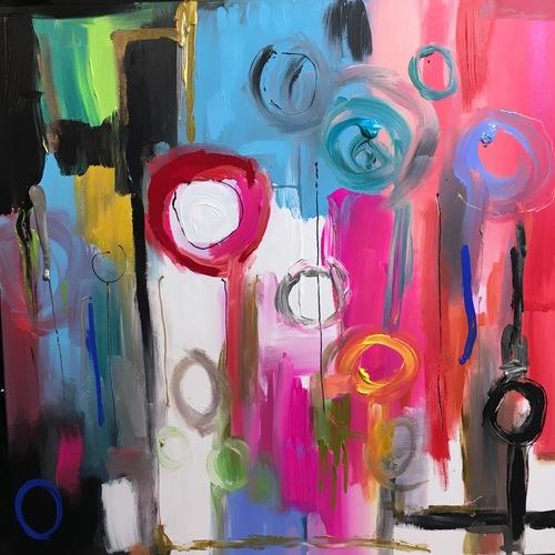 Thumb foule sentimentale  100x100 cm 2016 acrylique 1750