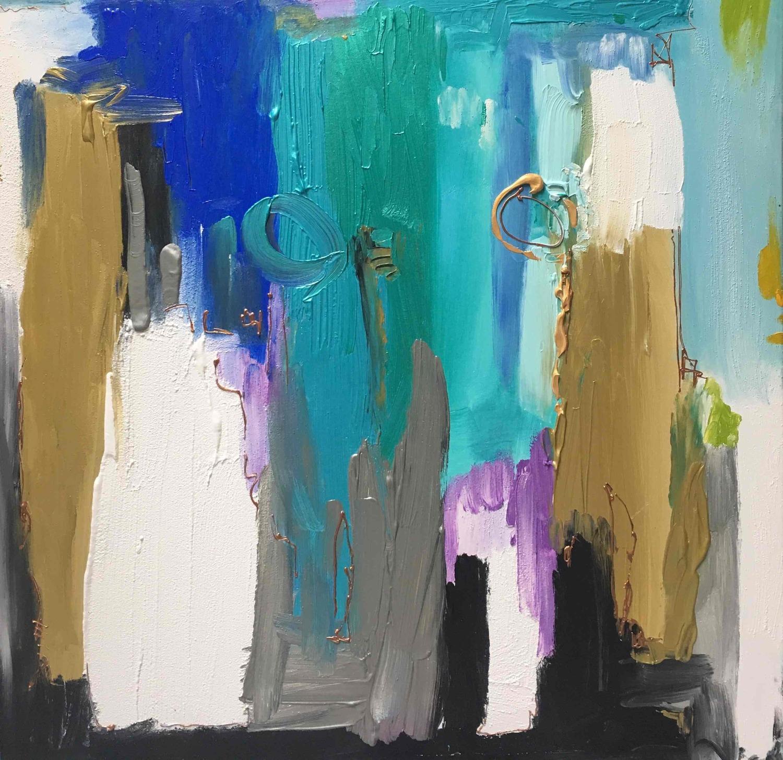 Large osmose acrylique 2017 100x 100 cm 1750   s rie amour