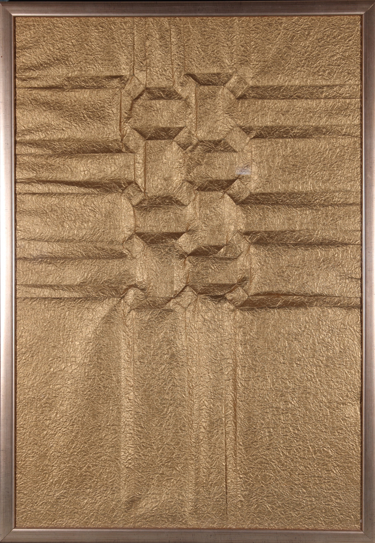 Large motif ailc  papier plissc  dorc  80x60 1kg