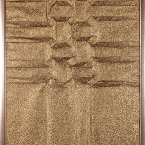 Thumb motif ailc  papier plissc  dorc  80x60 1kg