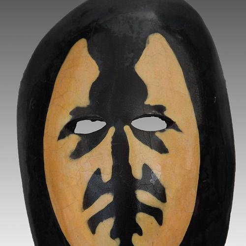 Thumb masque de marc 1  laque de chine avec socle 1984  20x30  1kg
