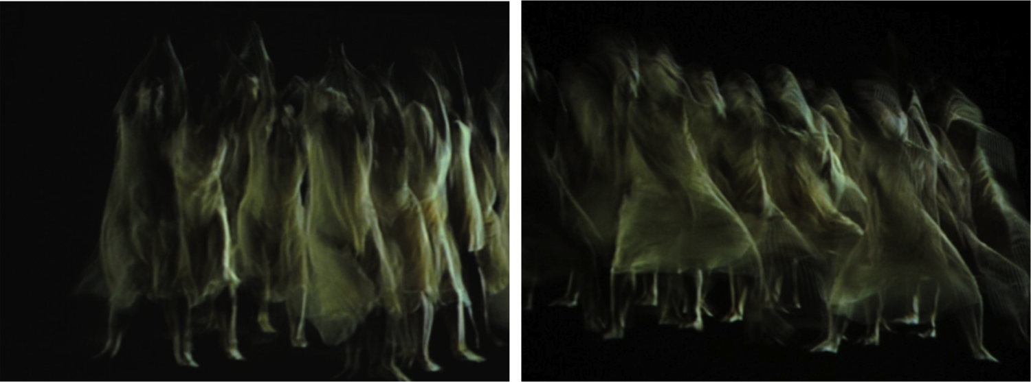 Large diptych dance