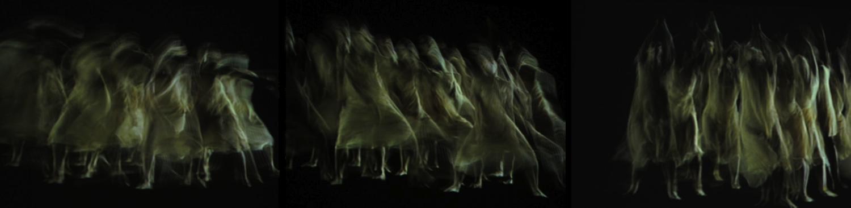 Large triptych dance